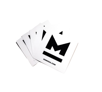M White Sticker