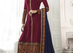 IMPERIAL EMBROIDERED WORK STRAIGHT PAKISTANI SALWAR KAMEEZ