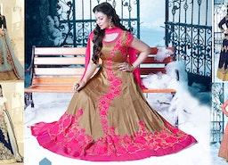 Bollywood Heroine Mouni Roy & Ayesha Takia Style Designer Anarkali Salwar Kameez Dress/Gown Fashion