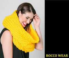 Rocco Wear Handmade Yellow Fashion Scarf