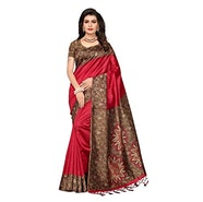 Gosriki art silk saree with Blouse Piece with 83% Off