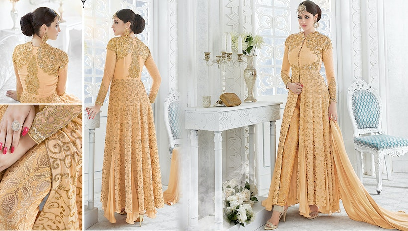 99f1187630 Designer Dresses  Latest Indo Western Suits   Indian Long Party Wear Dresses  For Women Online