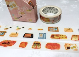 donut bread baking washi tape 8M doughnut Kitchen planner baking planner cooking theme food party food label cooking diary decor scrapbook