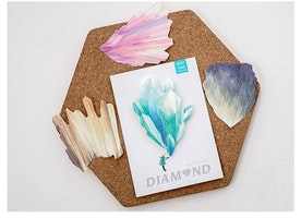 30 raw crystal diamond sticky note colorful stone raw gemstone diamond stone crystal die cut decor paper embellishment paper memo note gift