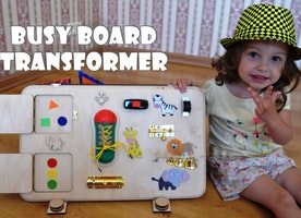 Busy board, Toys for autism, Busy board for girl, Sensory board, Latch board, Pretend play, Busy book, Activity board, Gift 1st, Baby gifts