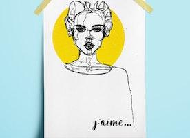 J'aime Woman Portrait  Poster