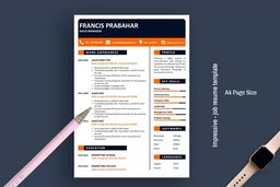 Impressive - job resume template for word free download 2020