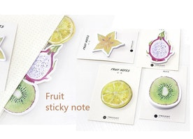 30 sheets Cute Fruit sticky note cute Memos fruit party paper memo paper embellishments lime kiwi dragon fruit star fruit Paper Note decor