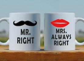 Couples mugs, funny gift, wedding mugs, coffee mugs