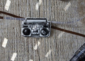 80s Cassette Player Brooch Old School Stereo Music Lover Gift