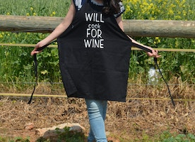 Cook For Wine Apron, adjustable apronunisex apron, kitchen accessories, love cooking, cooking linens, unisex kitchen