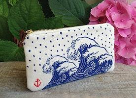 Hokusai Pouch Card Wallet Coin Curse Pencil Case Teens Gift Beach Pouch