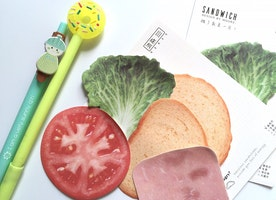 ham lettuce tomato sandwich bread sticky note cute food paper memo embellishments healthy breakfast Paper Note food planner journal decor