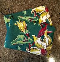 Joie de Weave Retro Barkcloth Handy Zip Bag