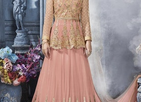 AESTHETIC DESIGNER LONG CHOLI LEHENGA