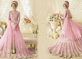 Party Wear Gowns Designs: Indo Western Styles Latest Designer Long Party Gown For Girls Online India