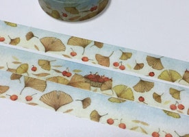 Autumn theme washi tape 7M autumn fall season harvest fruit sticker tape Fall forest golden Yellow Leaves Fall colors Landscape decor gift