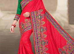 DIGNIFIED KUNDAN WORK TRADITIONAL SAREE