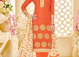 LUSCIOUS EMBROIDERED WORK PANT STYLE SALWAR KAMEEZ