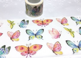 Butterfly washi 5M x 3cm tape dancing butterfly sticker tape rare butterfly colorful butterfly collection wide masking tape butterfly decor