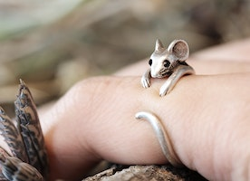 A Little Mouse ring Animal ring - Some thing Unique on your finger !