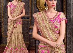 Stylish Red Georgette Embroidered Lehenga For Ceremonial Functions