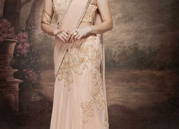 ABSORBING EMBROIDERY AND STONE WORK DESIGNER LEHENGA SAREE