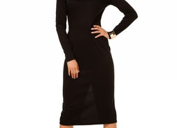 Sexy Little Black Dress, Long Sleeve Classic Pencil Dress