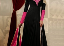 BLACK AND ROSE PINK COLOR DESIGNER SALWAR KAMEEZ