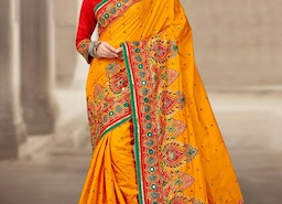 URBANE KUNDAN WORK TRADITIONAL DESIGNER SAREE