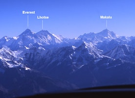 Mount Everest can be seen from Kathmandu