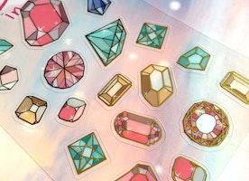 bid diamond huge diamond sticker diamond stone jewelry gemstone vintage jewellery diamond red blue purple pink green diamond theme sticker