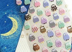 owl sticker owl pattern little owl stickers colorful owl cute bird lovely animal mini sticker animal owl theme Diary sticker planner sticker