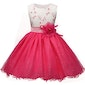 Rose Flower Princess Dress for Girls