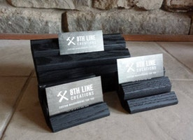 Set of 3 - Black Business Card Holders