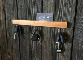 Cherry Wall Mounted Magnetic Key Holder