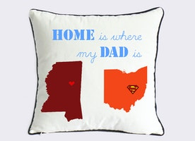 long distance dad son pillow case-unique gift for father from son-novelty fathers day pillow-father of groom gift-home is where my dad is