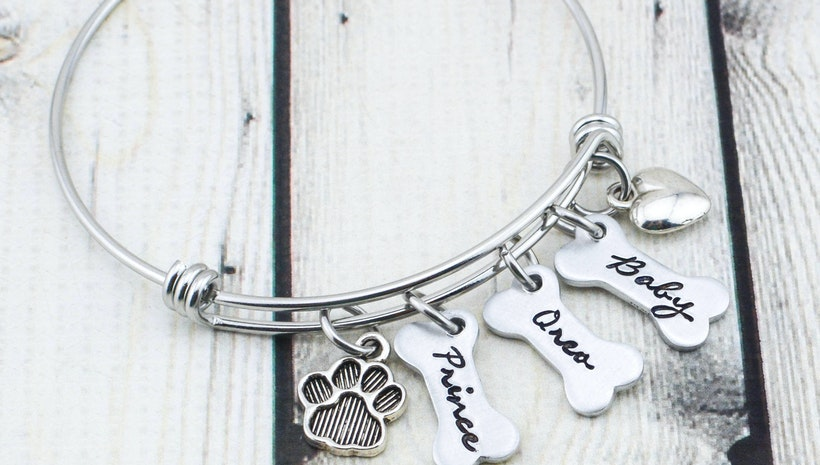 Custom Dog Mom Bracelet