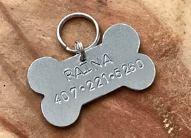 Bone Dog ID tag