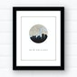 New Orleans skyline wall art | city map art