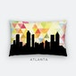 Atlanta skyline geometric pillow | yellow