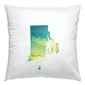 Rhode Island watercolor square pillow