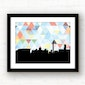 Washington DC skyline geometric wall art