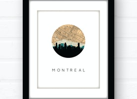 Montreal skyline wall art