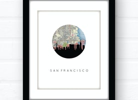 San Francisco skyline wall art