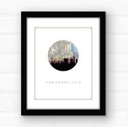 San Francisco skyline wall art