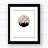 Los Angeles city skyline wall art
