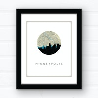 Minneapolis skyline wall art