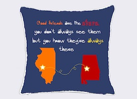 long distance friend cushion cover-going away gift for BFF-Xmas gift for friend-farewell gift-bridesmaid gift-good friends are like stars