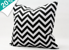 """Free Shipping! Home Decorative 16"""" 18"""" 20"""" 22"""" Pillow Case Black White Zig-Zag Printed Throw Pillows Cushion Cover Handmade 1634"""
